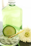 Cucumber spa treatment Stock Photos