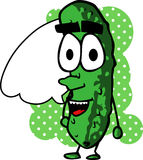 Cucumber with speech bubble Stock Image