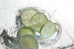 Cucumber splash Stock Photo