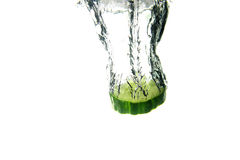 Cucumber splash Royalty Free Stock Image