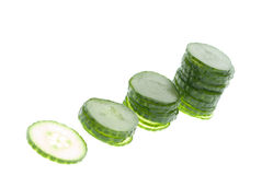 Cucumber in a stack Royalty Free Stock Photos