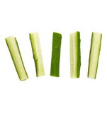 Cucumber stick. Fresh cucumber stick isolated on white royalty free stock photos