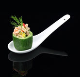 Cucumber stuffed with tuna Royalty Free Stock Photos