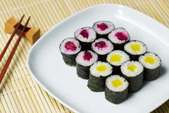 Cucumber Sushi ready to eat Stock Photo