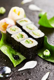 Cucumber Sushi Roll Stock Photos