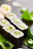 Cucumber Sushi Roll Stock Photography