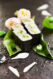 Cucumber Sushi Roll Royalty Free Stock Images