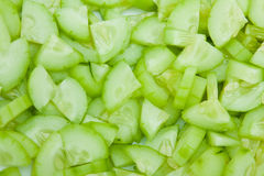 Cucumber Tiny Slices Background Stock Image