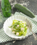 Cucumber tofu salad Royalty Free Stock Images