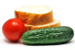 Cucumber and tomato Stock Image