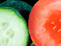 Cucumber and tomato Stock Photography