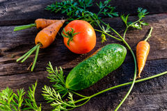 Cucumber tomato carrot Royalty Free Stock Photography