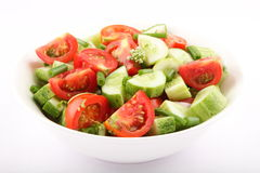 Cucumber and Tomato salad . Stock Photography