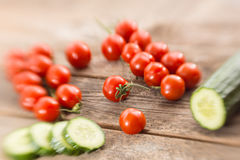 Cucumber and tomatoes Royalty Free Stock Photo