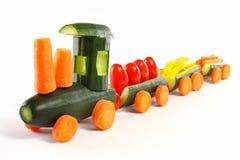 Cucumber train Royalty Free Stock Image