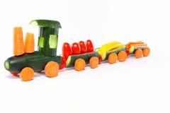 Cucumber train Stock Image