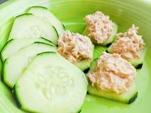 Cucumber tuna stock photos