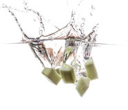 Cucumber undwerwater Stock Photo