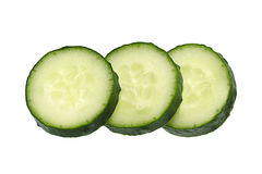 Cucumber vegetable on white Royalty Free Stock Image