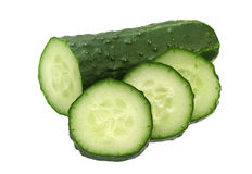 Cucumber vegetable on white Royalty Free Stock Photo