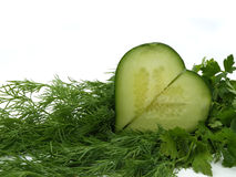 cucumber and vegetables Stock Photos