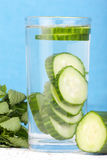 Cucumber water Stock Photo