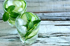 Cucumber water Stock Photos