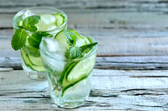 Cucumber water Royalty Free Stock Images