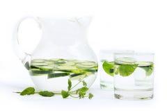 Cucumber water Stock Image