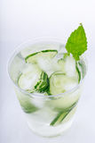 Cucumber water with ice Royalty Free Stock Image
