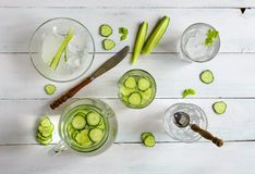 Cucumber water Royalty Free Stock Image