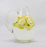 Cucumber Water In A Pitcher Stock Photos