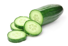Cucumber on White Royalty Free Stock Images