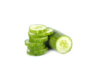 Cucumber on white background Stock Image