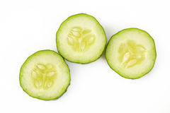 Cucumber on white background Stock Images