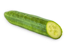 Cucumber on white Royalty Free Stock Image