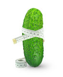 Cucumber With Meter Stock Photography