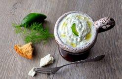 Cucumber yoghurt dip (Tzatziki) Stock Image