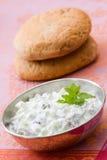 Cucumber yoghurt with raisins Stock Photos