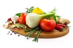 Фенхель с томатом и огурцом Стоковая Фотография RF