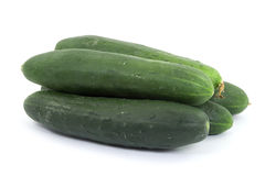 Cucumbers. Raw cucumbers vegetable studio isolated Stock Image
