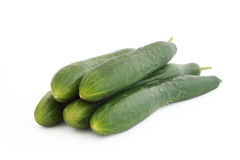 Cucumbers. Isolated on white background Stock Photography