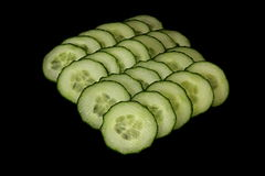 Cucumbers. Vegetables on a black background Royalty Free Stock Photo