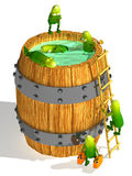 Cucumbers in a barrel Royalty Free Stock Photos