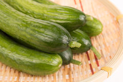 Cucumbers in basket. Some fresh cucumbers in basket Stock Image
