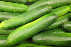 Cucumbers in Baskets Royalty Free Stock Photos