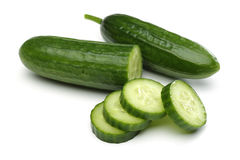 Cucumbers and Cucumbers Slices Royalty Free Stock Image
