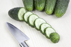 Cucumbers cut Royalty Free Stock Images