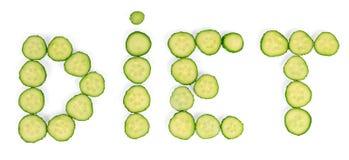 Cucumbers diet word Stock Photo