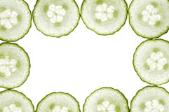 Cucumbers frame Stock Photography